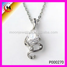 2015 NEW DESIGN SILVER JEWELRY YOU OWN PENDANT NECKLACE WITH CHARM FOR WOMEN