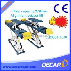 Alignment scissor lift rental trailer DK-35