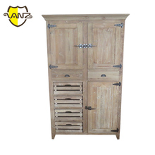 Antique Multi drawer recycled wood sideboard/wood cabinet VZL050