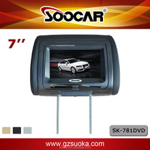 NEW--7'' Car Headrest DVD Player with Touch-screen