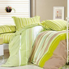 100% polyester wholesale printed bedding fabric stripe pongee fabric