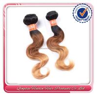 Two tone 8a grade brazilian hair 20 inch virgin remy brazilian hair weft