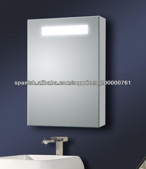 Ba o puerta corredera armario con espejo con luz cuarto de - Espejo con armario bano ...