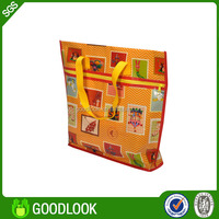 2014 best sale promotional fruit pattern folding shopping bag with pouch