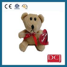 Little cute bear with heart stuffed tedy bear toys