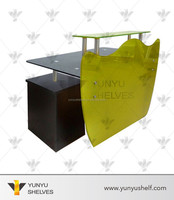 Fashionable commerical glass modern bar counter