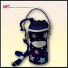 Blue Glitter PVC Insulated Thermos Bottle Bag