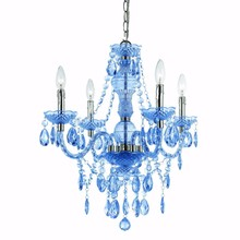 531-1 Af Lighting Elements 8352-4H Mini Chandelier 4 Light In Blue Cut Plastic