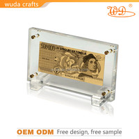 Golden Gift & Craft gold foil currency banknote