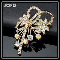 2015 Top Selling Wedding Cheap Flower Brooches In Bulk With Crystal Vintage Jewelry DRJ0130