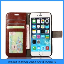 For apple iPhone6 horse grain high quality PU leather iPhone 6 case