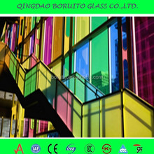 Decorative art tempered laminted glass for building,glass door,curtain wall