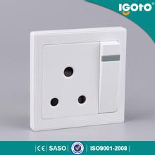 igoto Nepal light control wall switch button 3 pin socket