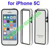 Special Transparent Plastic + TPU Bumper Case for iPhone 5C(Black)