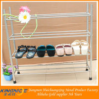2014 NEW arrival pure stainless steel folding round shoe rack