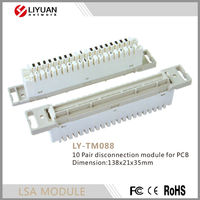 LY-TM088 Telecom Accessories Krone 10 pairs Disconnection Module for PCB