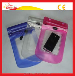 Beautiful And Newly Designed Plastic Zipper Waterproof Mobile Phone Clear Transparent PVC Bag