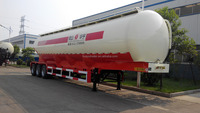 30cbm/45cbm/60cbm bulk cement semi trailer flour transport tank trailer Weichai engine Bohai air compressor