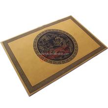 Branded designer recycled rubber door mat, custom new design door mat, fabric top entrance mat