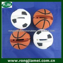 Hot selling football/basketball shape silicone speaker horn stand for iphone speaker