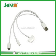MFi certified white tpe usb to 8 pin short mfi cable