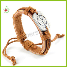 faith leather bracelet, cheap engraved leather bracelets, china market popular jewelry