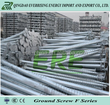 Solar PV mounting system structure using ground screw