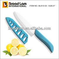 """Best quality Super Sharp Blade Zirconia Material 6"""" Chef knife with PP sheath blue color"""