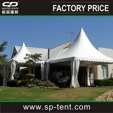 large pagoda marquee tent 10x10m with decorative lining and curtains
