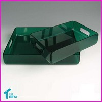 High Grade Delicate Lucite Acrylic Reusable Plastic Serving Tray