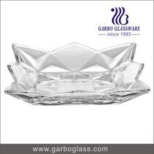 nice design square glass plate , 10 inch glass fruit and salad platter