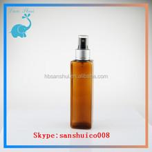 ISO8317/TUV/SGS series lotion cosmetic bottle make up plastic bottles amber pet bottles