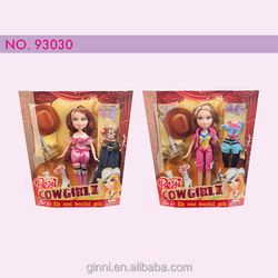 93030 Beiqi cool fashion barbie with Denim Dress fashion barbie doll