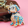 cute gift for children rhinestone dog keychain, cheap diamond keychain(SWTJU1010)