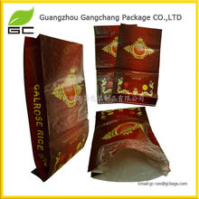 Virgin material PP woven laminated BOPP film 50kg rice bag for packing