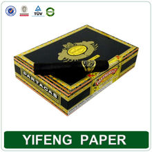 Custom Black Cardboard Small Antique Luxury Single Paper Cigar Boxes Wholesales