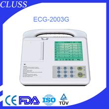 High quality portable ecg machine price of ecg machine paper CLS-2003G FDA