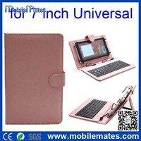 7 inch Tablet Keyboard Leather Case, Micro USB Cable Tablet Leather Case with Keyboard