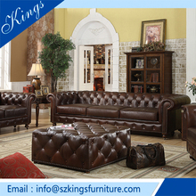 Modern Style Chesterfield Leather Sofa For Sale