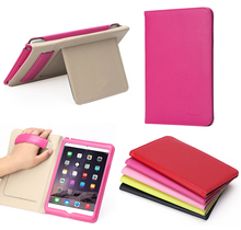 BRG-Multifunction Genuine Leather Ultra Thin Leather Smart Cover Case For iPad Mini 4 with Stand 12.9 Inch
