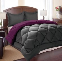 Down Alternative Reversible 3-Piece Comforter Set with 2 Pillowcases,