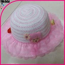 Fashion women sun hats Girl Bow Wide Summer Large Brim Straw Hat Wholesale