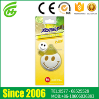Good Design Eco-Friendly PVC Smiley Face Car Hanging Air Freshener
