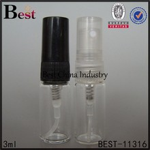 3ml transparent perfume tube bottles images with different color caps, tube bottles with high quality and competitive