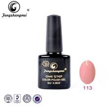 Fengshangmei factory nail gel supplier wholesale 120 colors peel off shining all in 1 gel polish