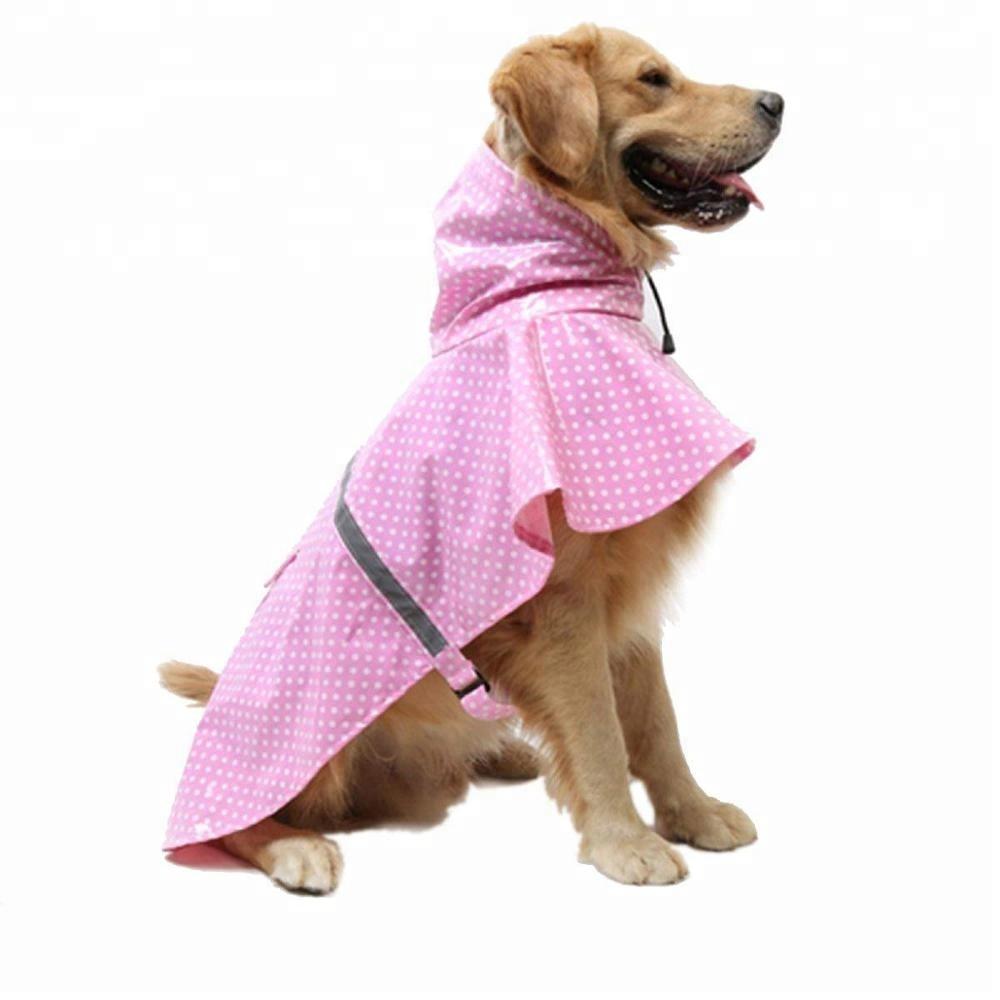 패션 점 기계를 동물 음식을 Pet 조절 반사 방수 개 비옷