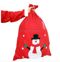 2015 Factory directly supply customized cotton canvas tote bag/Cotton Christmas Gift Bag