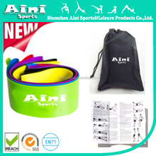 6 Exercise Bands - Resistance Loop Bands for Fitness and Stretching Workouts