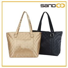 Quilted ladies tote bag, cheap briefcase, brand name fashion woman handbags briefcase
