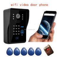 FDL-Top sale digital peephole rainproof wifi doorbell door entry video security camera